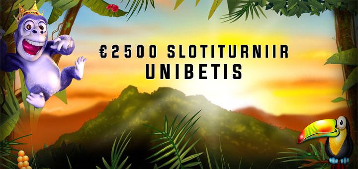 Unibetis toimub €2500 auhinnafondiga kasiinoturniir