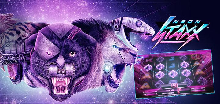 Paf jagab Neon Staxx kasiinoturniiril ära 5000 eurot ja 15 tasuta spinni