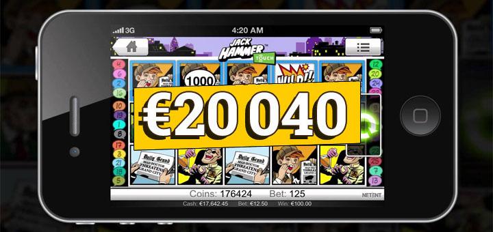 Optibeti Mobiilikasiinos võideti üle 20 000 euro