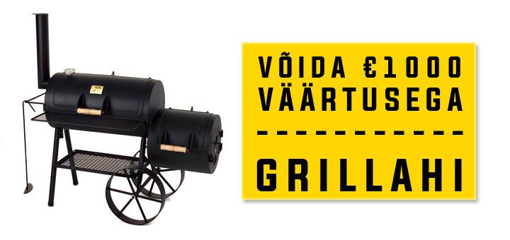 Võta Pafilt 20 eurot tasuta ja võida vinge Joe's Barbeque Smoker grillahi!