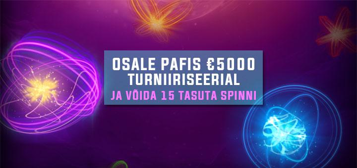 Sparks €5000 turniiriseeria ja tasuta spinnid Pafis