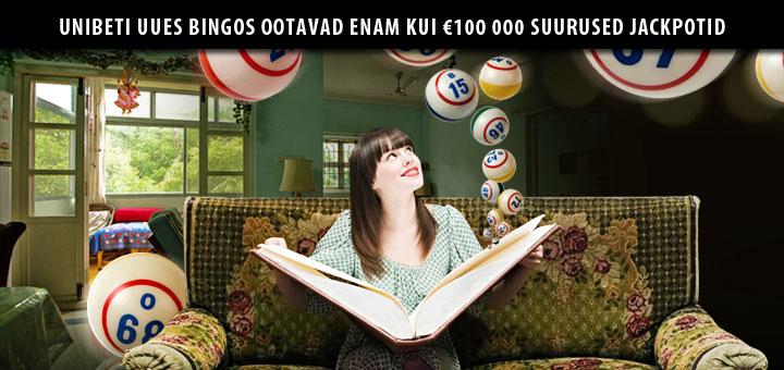 Proovi Unibet bingot tasuta ja võida enam kui €100 000 suurune bingo jackpot