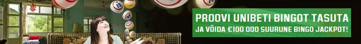 Proovi Unibet Bingot tasuta ja võida €100 000 suurune bingo jackpot!