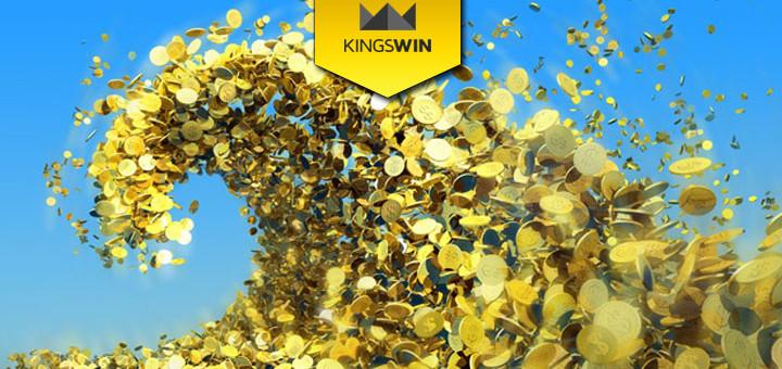 Kingswin Kasiino suurim jackpot on üle 10 miljoni euro. Anname sulle 5 eurot tasuta jackpoti jahtimiseks.