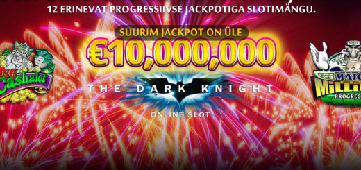 Kingswin Kasiinos suurim jackpot 10 miljonit eurot + 5 eurot tasuta