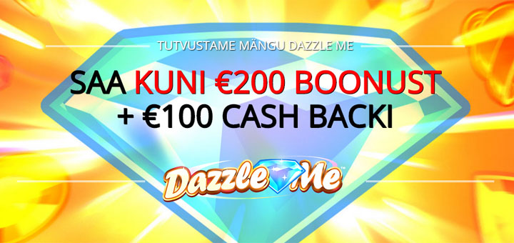 Optibetis kuni €200 kasiino boonus ja 100 eurot cashbacki ehk tasuta lisaraha