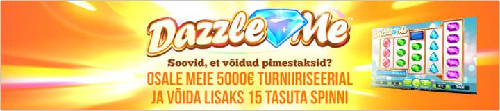 Paf Dazzle Me kasiinoturniir ja tasuta keerutused