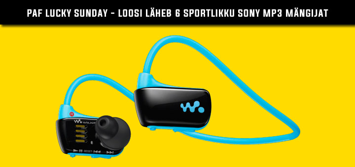 Paf Lucky Sunday - Võida sportlik Sony Walkman MP3 pleier