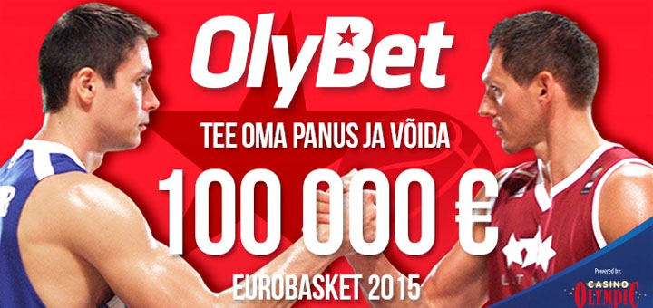 Võida 3-eurose spordiennustusega OlyBetis 100 000 eurot
