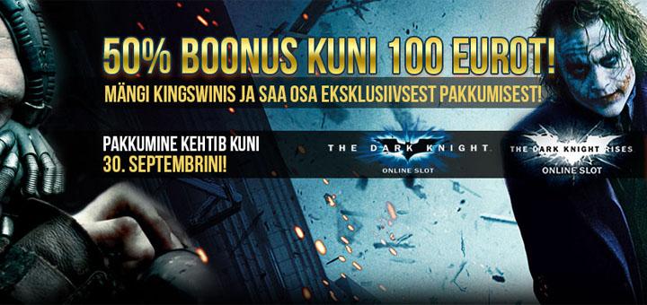 Tähist Batmani päeva - Kingswinis tasuta spinnid