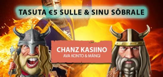Chanz Kasiinos 5 eurot tasuta raha