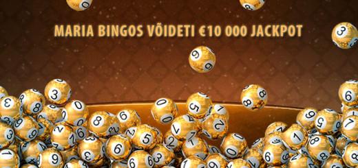Marias võideti €10 000 suurune Bingo Jackpot