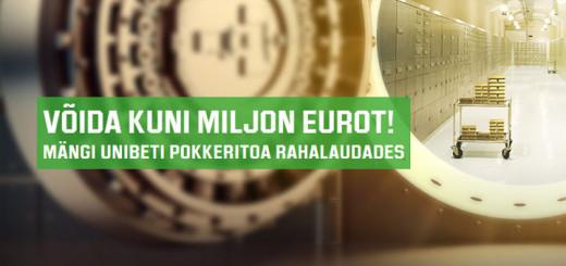 Võida Unibeti pokkeritoas verstaposti käega kuni miljon eurot!