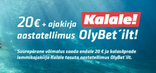 Ajakiri Kalale tasuta aastatellimus + tasuta 20 eurot