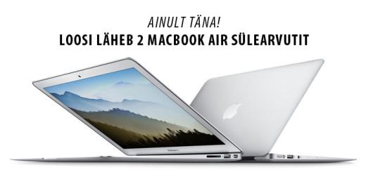 Paf loosib välja 2 Macbook Air sülearvutit