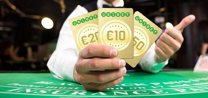 Unibet Live Blackjack kuldsed rahakaardid