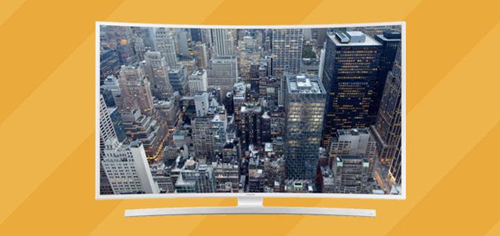 Võida kumera ekraaniga Samsungi Smart TVjpg