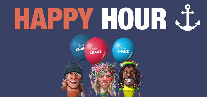 Chanz Kasiino Happy Hour ja tasuta spinnid