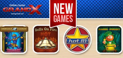 GrandX Online Casino uued mängud