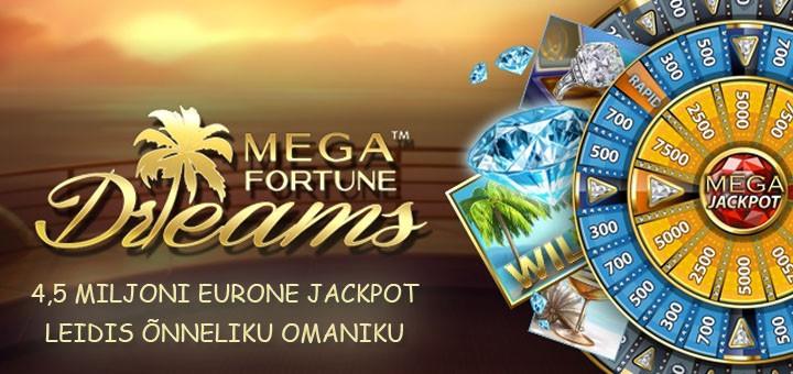 Maria Casinos võideti Mega Jackpot