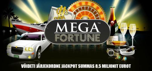 Mega Fortune Mängus võideti Jackpot 8,5 miljonit eurot