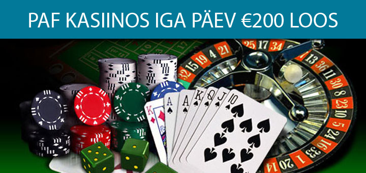 Paf Lucky Casino igapäevane €200 loosimine