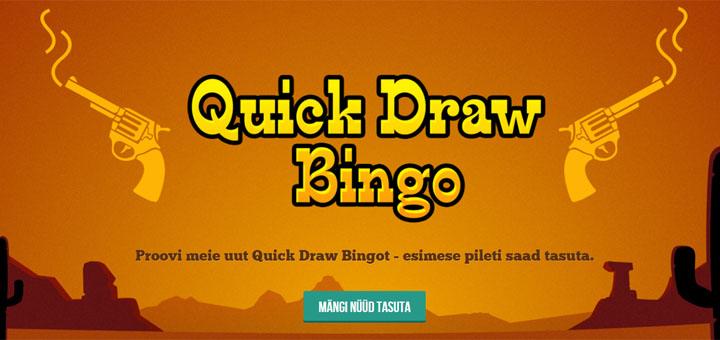 Paf Quick Draw Bingo tasuta bingopilet