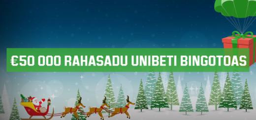Jõuluvana rahasadu Unibeti bingotoas