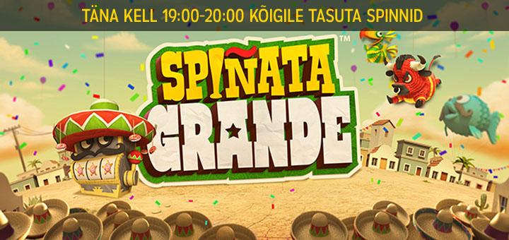 Spinata Grande tasuta keerutused Maria Kasiinos