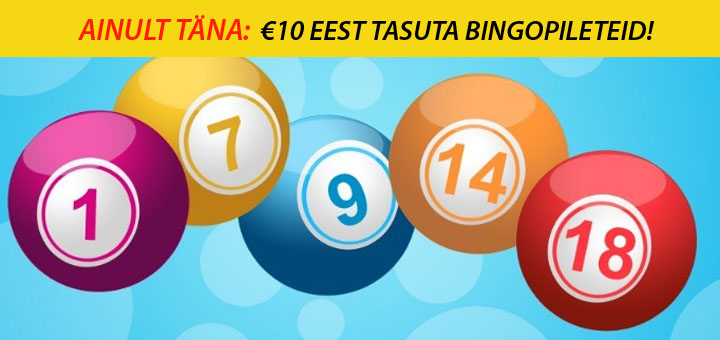 Unibetis ja Maria Kasiinos tasuta bingo piletid