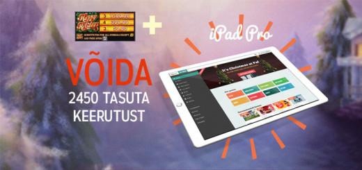Võida 2450 tasuta keerutused ja iPad Pro