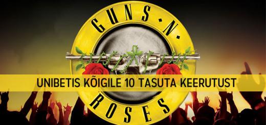 Guns and Roses tasuta keerutused ja kasiinoturniir Unibetis