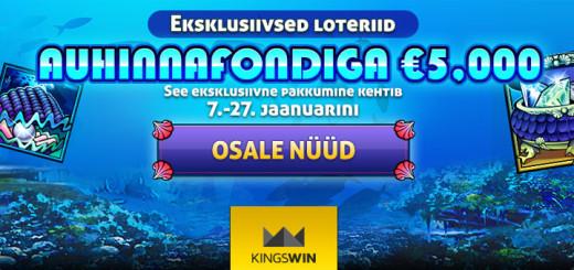 Mermaids Millions loterii Kingswin Kasiinos