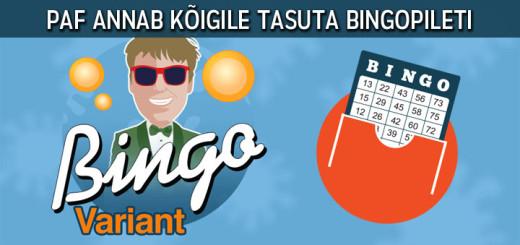 Paf Variant Bingo - tasuta bingopilet
