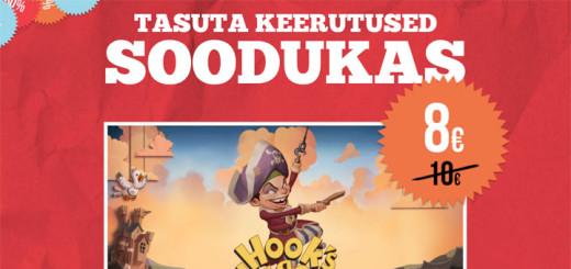 Paf sooduspakkumine - 15 tasuta keerutust mängus Hooks Heroes
