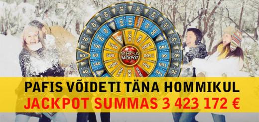 Pafis võideti reede hommikul jackpot summas 3,4 miljonit eurot