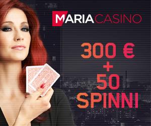 Maria Casino €300 kasiino boonus