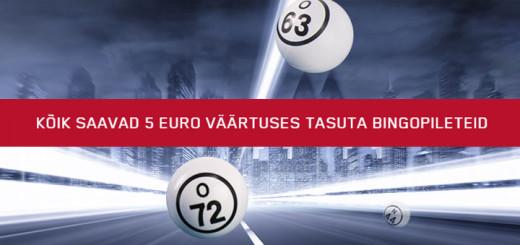 Maria Casino annab kõigile 5 eurose bingovoucheri