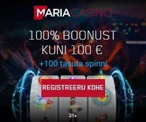 Maria Casino boonused - €100 sissemakseboonus + 100 tasuta spinni