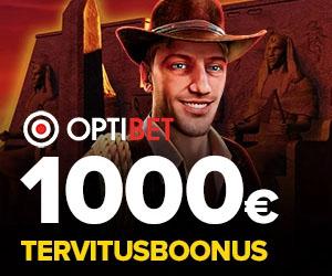 Optibet kasiino tervitusboonus €1000 + eksklusiivsed Novomatic mängud