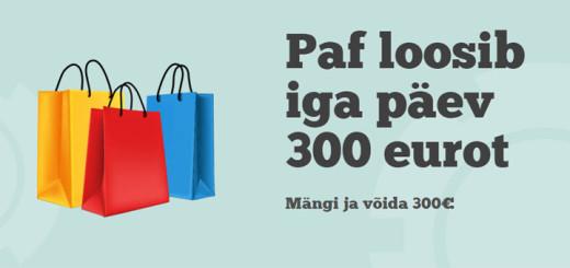 Paf Lucky Casino - võida iga päev 300 eurot