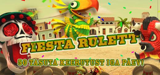 OlyBet Live kasiino Fiesta Rulett ja tasuta keerutused
