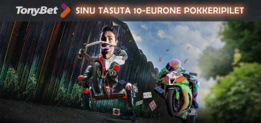 TonyBet pokker - tasuta 10-eurone pokkeripilet