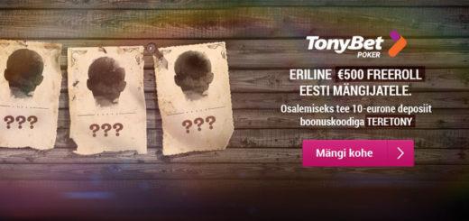 TonyBet kutsub Eesti mängijaid tasuta pokkeriturniirile