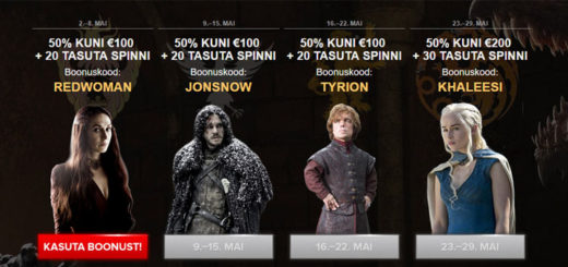 Optibet Kasiino Game of Thrones boonused ja tasuta spinnid