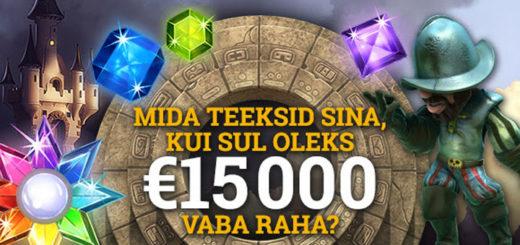 Optibet garanteerib 15 000 euro suuruse võidu