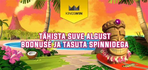 Tähista suve algust Kingswin Kasiinos boonuse ja tasuta spinnidega