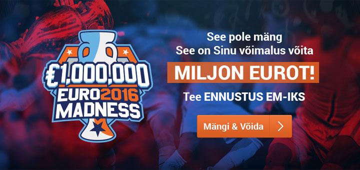 TonyBet Spordiennustus - EURO 2016 ennustusmäng
