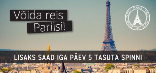 Chanz Casino loosib välja reisi Pariisi ja sind ootavad iga päev tasuta spinnid