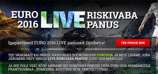 EURO 2016 riskivabad panused Optibetis